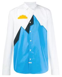 Camicia Mountain di KENZO in Blue da Uomo