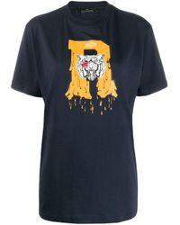 T-shirt à logo imprimé ROKH en coloris Blue