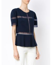 Gloria Coelho - Blue Tule Panels Top - Lyst
