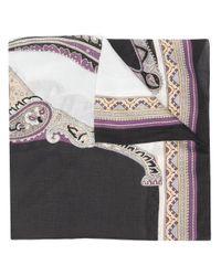 Foulard à motif cachemire Etro en coloris Black