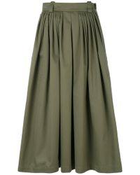 Golden Goose Deluxe Brand Green Full Midi Skirt