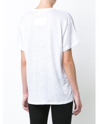 Anine Bing - White V-neck Lightweight T-shirt - Lyst