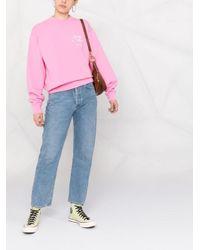 Sporty & Rich ロゴ スウェットシャツ Pink