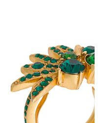 Oscar de la Renta - Green Tropical Palm Ring - Lyst