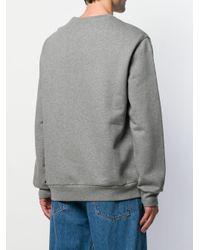 Tommy Hilfiger Gray Flag Logo Crewneck Sweatshirt for men