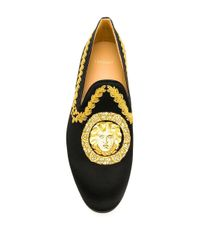 Versace Loafer mit Medusa-Stickerei in Black für Herren
