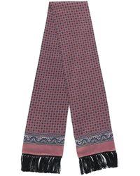 Écharpe à détails de franges Dolce & Gabbana pour homme en coloris Pink