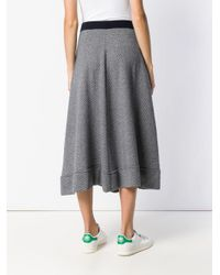 N.Peal Cashmere Blue Flared Knitted Skirt