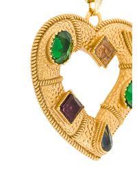 Dolce & Gabbana | Metallic Collana Con Pendente Di Cristallo | Lyst