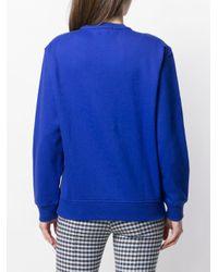 SJYP コントラストロゴ スウェットシャツ Blue