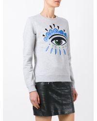 KENZO - Gray Eye Sweatshirt - Lyst