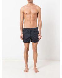 Short de bain à coutures passepoilées rayées Moncler pour homme en coloris Blue