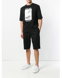 McQ Alexander McQueen Black Velvet Glove T-shirt for men