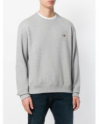 Calvin Klein - Gray Brooke Shields Embroidered Logo Sweatshirt for Men - Lyst