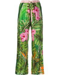 Pantalones Cristobal Marbella Black Coral de color Green