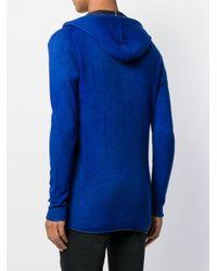 メンズ Avant Toi ジップアップ ニットパーカー Blue