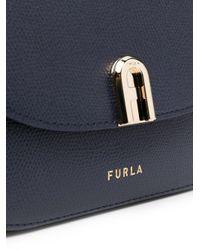 Petit sac à bandoulière à logo Furla en coloris Blue