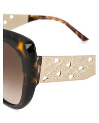 BVLGARI Brown Tinted Cat-eye Sunglasses