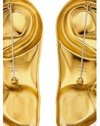 Boucles d'oreilles à design sculpté Gucci pour homme en coloris Metallic