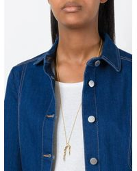 Wouters & Hendrix - Metallic 'in Mood For Love' Branch Long Necklace - Lyst