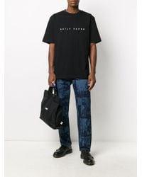 メンズ Daily Paper ロゴ Tシャツ Black