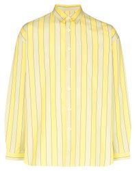Sunnei Yellow Striped Pattern Shirt for men