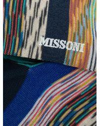 メンズ Missoni ストライプ靴下 Blue