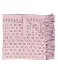 Bufanda de punto con motivo de calaveras Alexander McQueen de color Pink