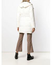 Peuterey - White Hooded Padded Parka - Lyst