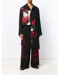 メンズ Yohji Yamamoto ロングライン シャツ Black