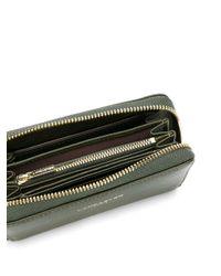 Lancaster Green Wristlet Wallet