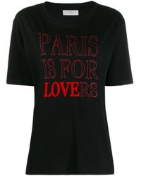 T-shirt Paris is for Lovers Sandro en coloris Black