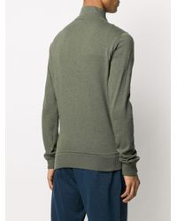 Stone Island Metallic Fine Knit Zipped Jumper for men