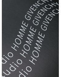 Givenchy Black Logo Zipped Clutch for men