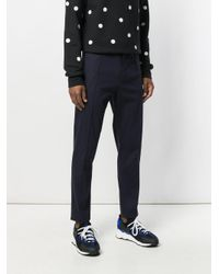 KENZO Blue Drawstring Tailored Trousers for men