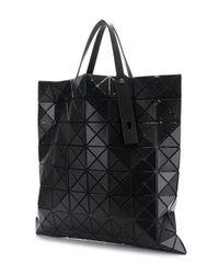 Bao Bao Issey Miyake Black Appliqué Detailed Oversized Tote Bag