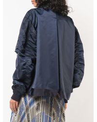 Sacai オーバーサイズ ボンバージャケット Blue