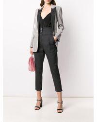 Pantalon crop marin à taille haute Pinko en coloris Black