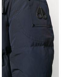 メンズ Moose Knuckles フーデッド パデッドコート Blue