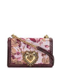 Dolce & Gabbana Devotion ジャカード バッグ Purple