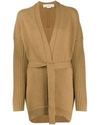 Golden Goose Deluxe Brand Natural Textured-knit Belted Cardigan