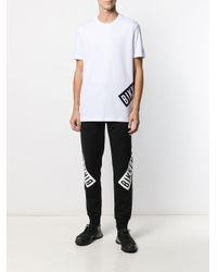 メンズ Dirk Bikkembergs ロゴ Tシャツ White