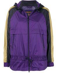 Woolrich Purple Contrast Stripe Hooded Jacket