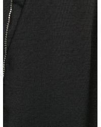 N°21 ラインストーンパンツ Black