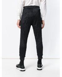Pantalones joggers Issey Miyake de hombre de color Black