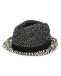 Paul Smith Black Embroidered Bowler Hat for men