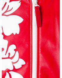 Fendi Red Floral Bomber Jacket