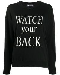 Boutique Moschino スローガン セーター Black