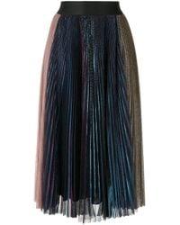 Rachel Comey Blue Multicoloured Pleated Midi Skirt