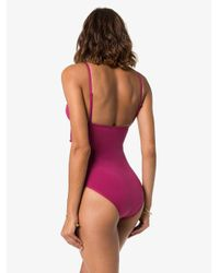 Zimmermann Pink Goldie Crescent Cut-out Swimsuit